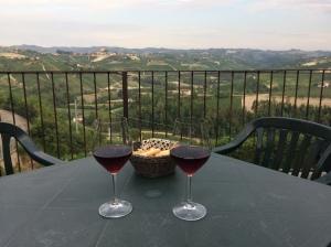 View of Barolo from Castiglione Falletto
